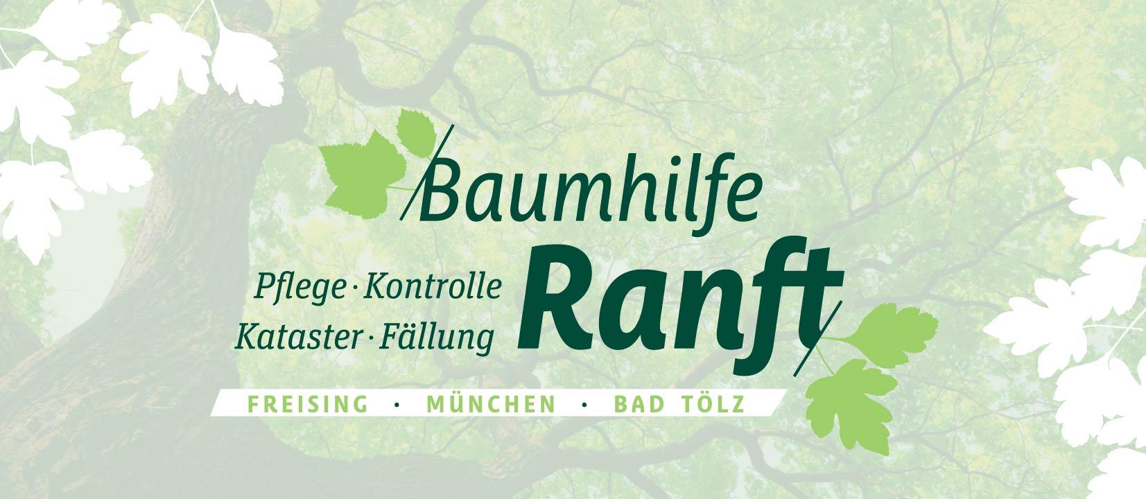 Logo Baumhilfe Ranft - Baumpflege Baumkontrolle Kataster Baumfällung Fällung Freising München Bad Tölz